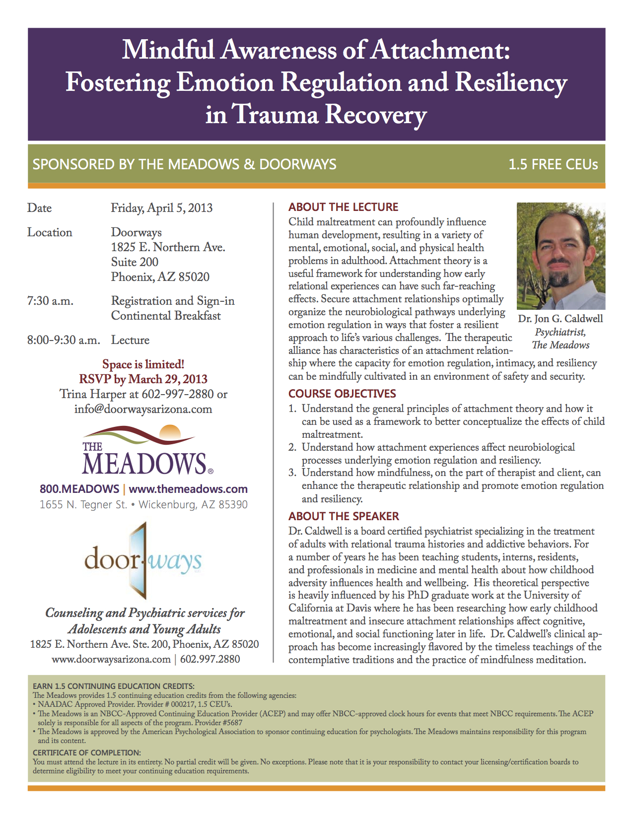 Meadows and Doorways April5-2013 CE Presentation Dr Caldwell